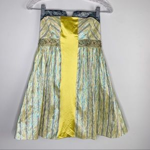 Nicole Miller Collection Dress 2 Yellow Strapless